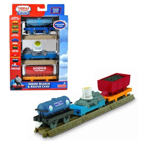 (Fisher Price Year 2010 Thomas and Friends Trackmaster Motorized Railway 3 Pack Train Car Set -