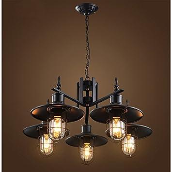 Winzsc Kreative Individualitat Lampe 5 Kopfe Pendelleuchte Eisen