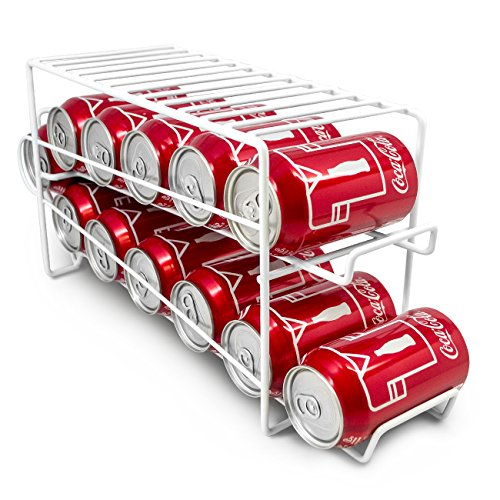 - Sorbus Soda Can Rack Beverage Dispenser - Dispenses 12 Standard Size 12oz Soda Cans