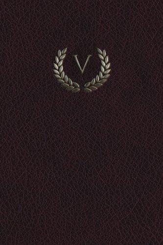 """Read Online Monogram """"V"""" Blank Book: 150 page Sketchbook Scrapbook Notebook (Monogram Maroon 150 Blank) (Volume 22) pdf epub"""