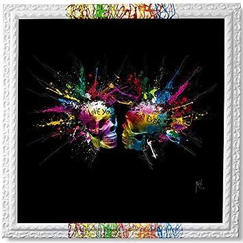 tableau peinture déco murale tête de mort 5