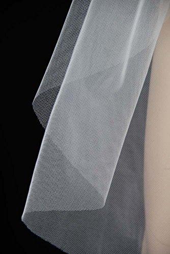 Bridal Wedding Classic Veil Ivory 1 Tier Long Chapel Length Standard Cut Edge by Velvet Bridal (Image #4)