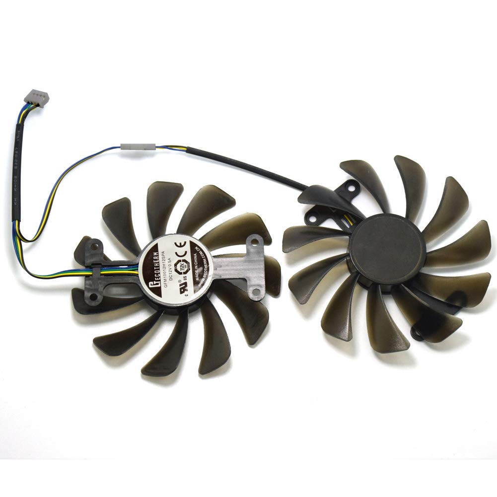 inRobert GFM10012H12SPA 12V 0.5A 95mm 4Pin Video Card Fan Replacement for ZOTAC GTX 1080 AMP Edition Graphics Card by inRobert