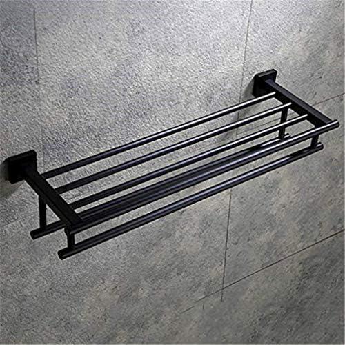 自己接着壁に取り付けられたステンレス製のタオルラック多目的タオルバータオル収納配置ラック60センチメートル
