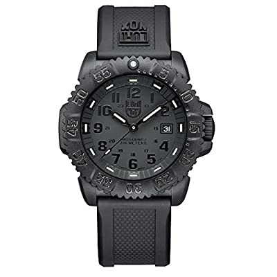 Luminox Men's 3051.BO Navy Seal Colormark 3050 Series, Quartz Movement With Rubber Band, Black Watch from Luminox