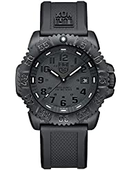 Luminox Mens 3051.BO Navy Seal Colormark 3050 Series, Quartz Movement With Rubber Band, Black Watch