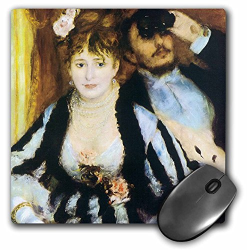 3dRose BLN Impressionist Fine Art Collection - La Loge by Pierre-Auguste Renoir - MousePad (mp_127357_1) ()
