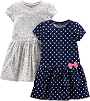 Simple Joys by Carter's Baby and Toddler Girls' 2-Pack Short-Sleeve and Sleeveless Dr