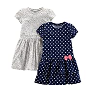 [Sponsored]Baby and Toddler Girls' 2-Pack Short-Sleeve and Sleeveless Dress Sets