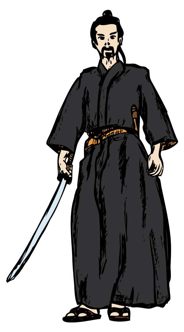 Wandtattoo Asien Samurai mit Schwert Wandsticker Wanddeko Wohnzimmer Japan Deko