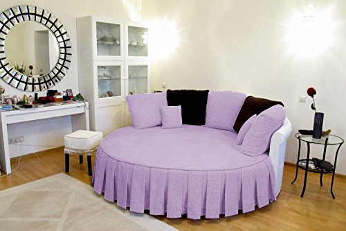 Round Pleated Skirt - Bedding Empire Luxurious 1 Piece Solid 84