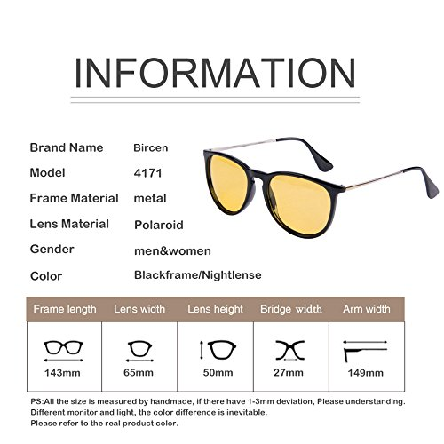 c84816c72d4 Mens Womens Classic Retro Polarized Night Vision Yellow Driving Glasses  Anti-glare Rain Day Sun