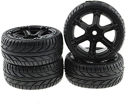 4PCS Drift Tires/&Wheel 12mm Hex Tire set For HPI HSP RC 1:10 On-Road Racing Car
