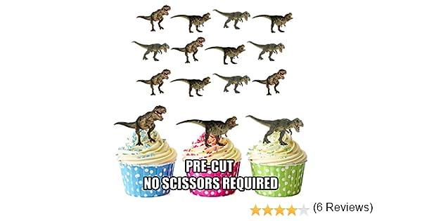 con dise/ño de dinosaurio T-Rex Set de decoraci/ón para tartas y magdalenas,/comestibles