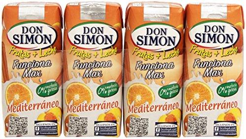 Don Simon Fruta + Leche Mediterraneo Zero materia grasa (Sin Azucar) 3 x 330ml: Amazon.es: Amazon Pantry