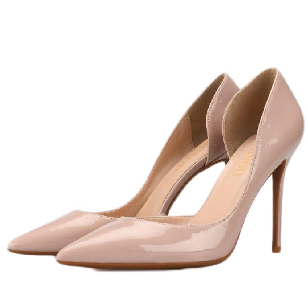 Snfgoij Frau Schwarz High Heels Fashion Sexy Arbeit Court Schuhe Hochzeit,Nude-6cm-EU 36 UK 4