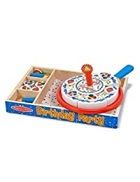 Melissa & Doug Learning Toy Birthday Party Cake Wooden Box Pleyset, 34 Pcs BOBEBE Online Baby Store From New York to Miami and Los Angeles