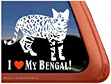I Love My Bengal Cat Vinyl Window Decal Sticker