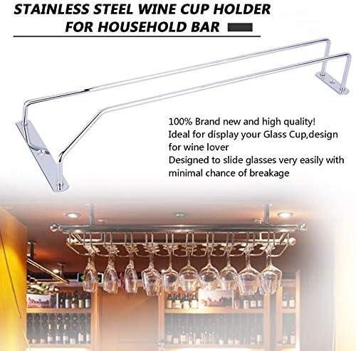 Silber FinukGo Edelstahl Weinglashalter Stemware Rack unter Schrank Speicherorganisator f/ür Haushalt Home Bar