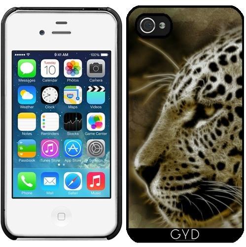 Coque pour Iphone 4/4S - Jaguar Sauvage Lion Tigre by WonderfulDreamPicture