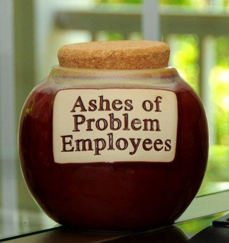 Tumbleweed Pottery Word Jar (Tumbleweed 'Ashes of Problem Employees' Money)