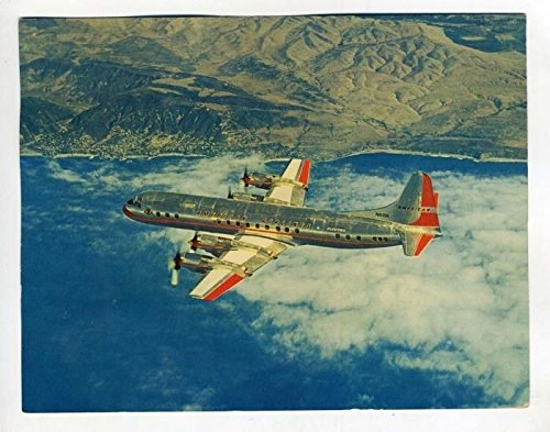 Electra American Airlines - American Airlines ELECTRA Last Flight Postcard with Signed Certification 1969