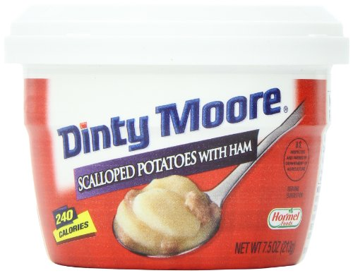 Dinty Moore Scalloped Potatoes with Ham, 7.5-Ounce Microwavable Bowls (Pack of -