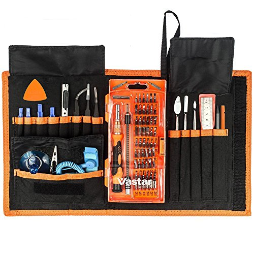 Vastar 78 in 1 Magnetic Driver Kit, Precision Screwdriver Set for Cell Phone( including iPhone 7 and 7 Plus), Tablet, PC, MacBook, Electronics Repair Tool Kit with Clean Cloth