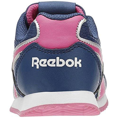 Reebok - Royal Classic Jogger - V63289 - Color: Azul-Plateado-Rosa - Size: 27.0