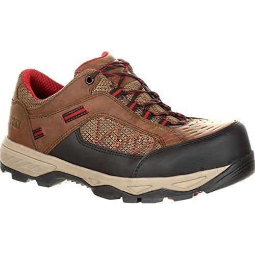 Rocky Men's 3'' Endeavor Point Composite Toe Work Shoes, Brown, 8.5 W ()