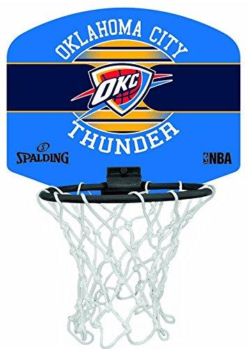 Spalding NBA Miniboard Oklahoma City 77-659Z Minicanasta, Unisex,, Talla Única 3001588013117