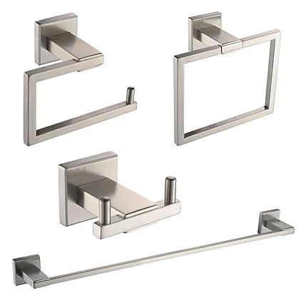 UMI. Essentials - Juego de 4 Accesorios de baño de Acero ...