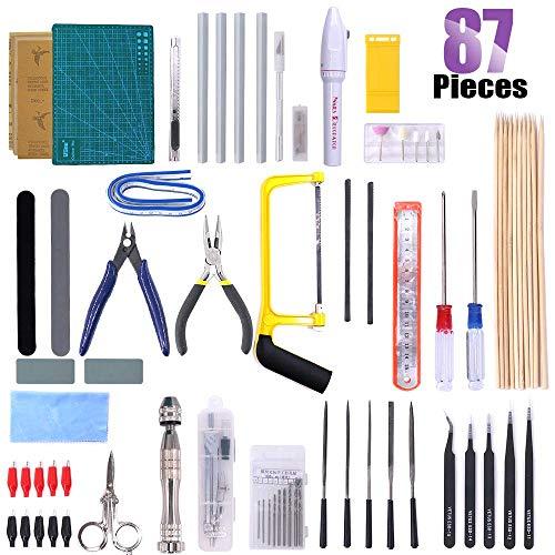 Swpeet 87Pcs Gundam Modeler Basic Tools, Gundam Model Tools Kit Perfect for Model Kit Building Beginner Hobby Model Assemble Building with Duty Plastic Container