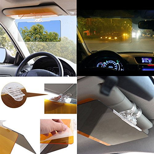 gvdor car sun visor extender hd uv anti uv anti glare car sun visor flip down shield day night. Black Bedroom Furniture Sets. Home Design Ideas