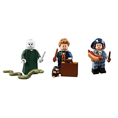 LEGO Harry Potter Minifigures Voldemort, Newt Scamander, and Tina Goldstein Collectible Figures: Toys & Games