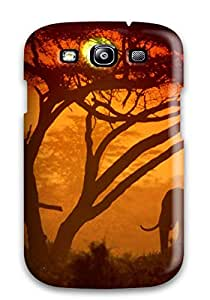 Hot Style CQgSqok1526oPeoA Protective Case Cover For Galaxys3(elephant In The Sunset)