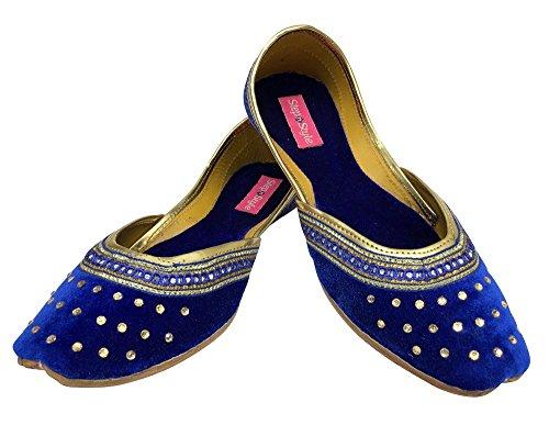 Step n Style , Damen Sandalen blau blau