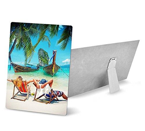 Retermit 5 pcs HD Sublimation Aluminum Plate with Stand Sublimation Metal Sheet Sublimation Blank 7.8x11.8 inch (20x30cm) by Retermit