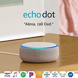 Echo Dot (3rd Gen) - New and improved smart speaker with Alexa - Sandstone