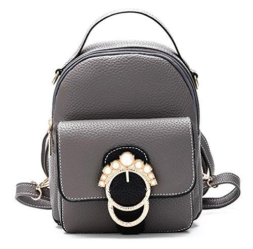 22cm multifonctionnel 7 sac 17 PU en décontracté souple main cuir Sac femmes dos sac à de mode à de SU7qpS