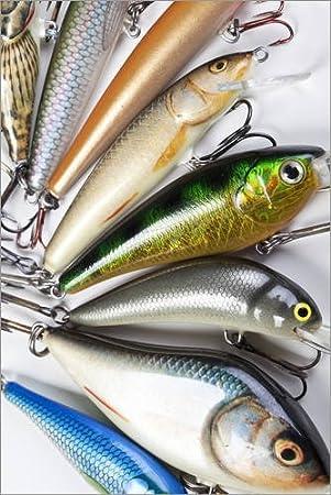 Póster 20 x 30 cm: Colorful Fishing Hooks de Editors Choice - impresión artística, Nuevo póster artístico