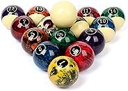 Professional Pool Balls/Billiard Balls Set, Complete 16 Balls for Pool Tables