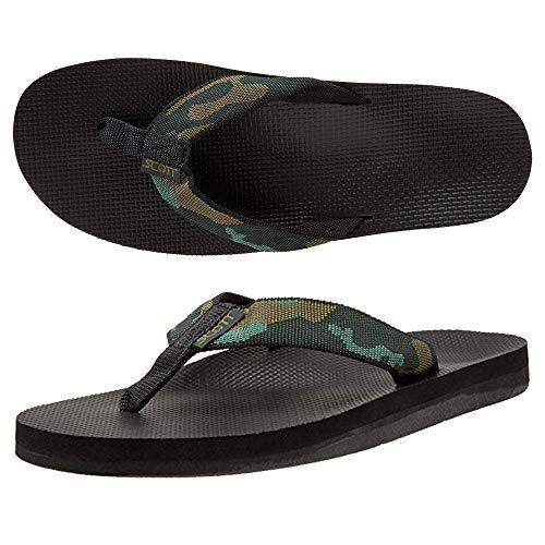 Scott Hawaii Men's Makaha Sandals | Size 13 Camouflage Flip-Flops | No Slip ()