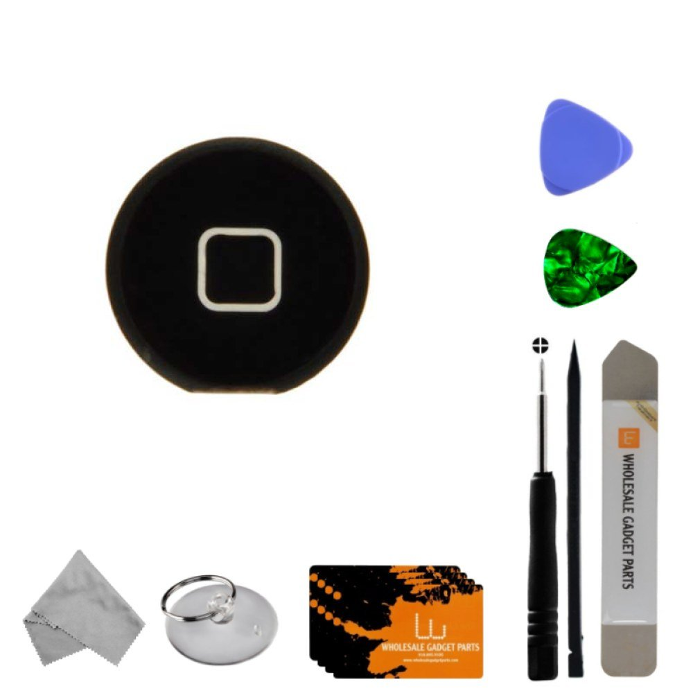 Home Button for Apple iPad 3 (Black) with Tool Kit