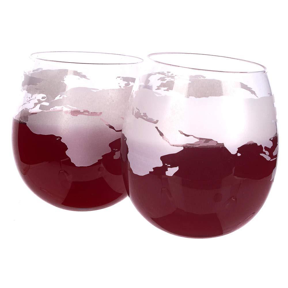Globe Rocker - Bicchieri da whisky, brandy, cognac - con fondo rotondo TGO