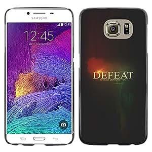 TECHCASE**Cubierta de la caja de protección la piel dura para el ** Samsung Galaxy S6 SM-G920 ** Defeat Black Text Meaning Thought