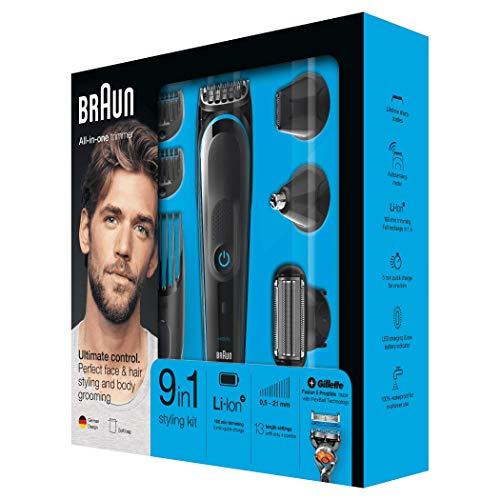 Braun 9-in-1 All-in-One Trimmer MGK5080 Beard Trimmer and Hair Clipper,...