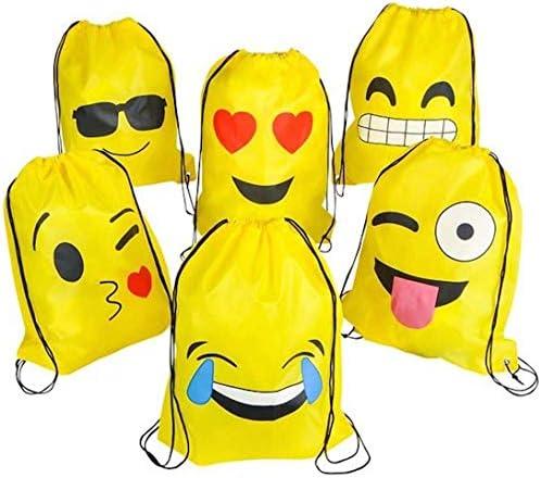 Emoji Mochilas Petate 4 Pack Cordón Mochila Bolsas Infantiles para niños y niñas Deporte Gimnasio Backpack Regalos Detalles y Recuerdos para Invitados ...