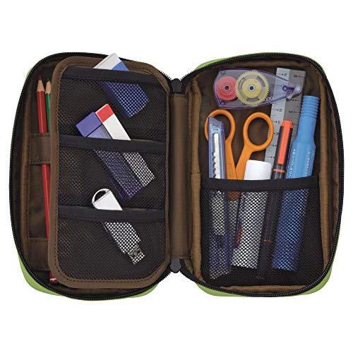 LIHIT LAB Zipper Pen Case, 7.9 × 2 × 4.7 Inches, Orange (A7551-4)