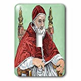 3dRose lsp_82155_1 Julius Ii, Pope From 1503 To 1513, Engraving Eu16 Pri0098 Prisma Single Toggle Switch